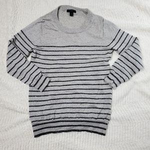 J.Crew S Tippi Sweater Gray Metallic Stripe